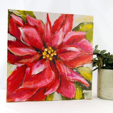 Red Poinsettia 10x10