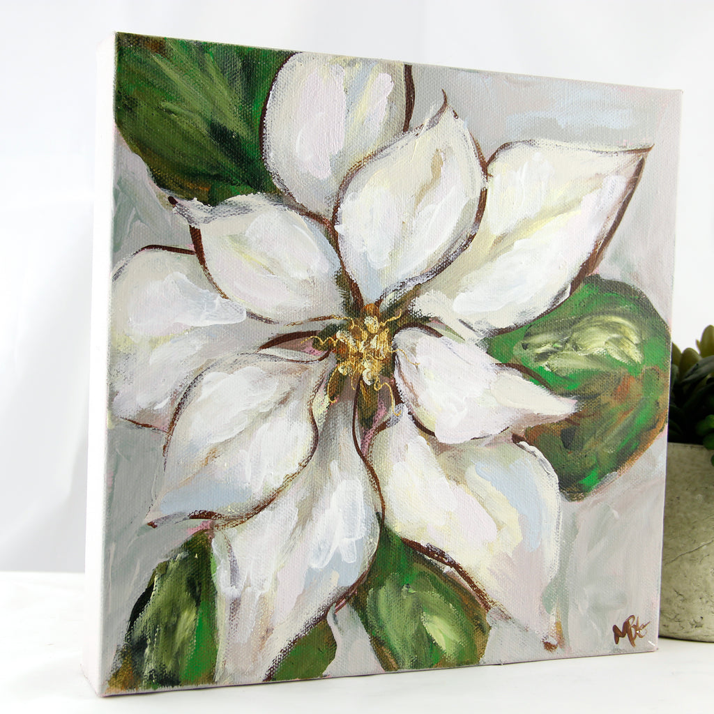 White Poinsettia 10x10