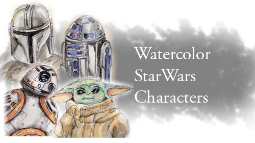Watercolor Star Wars Characters Class