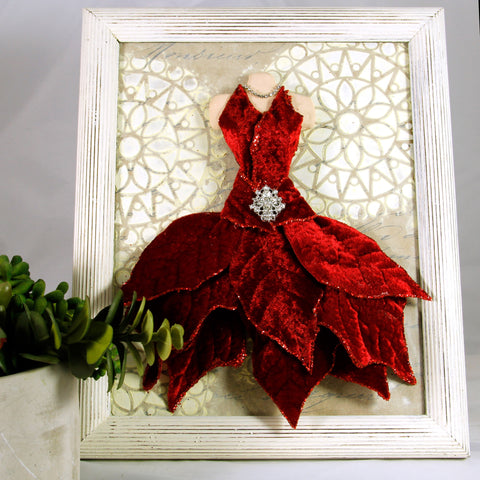 3D Dress - Red Poinsettia Dress
