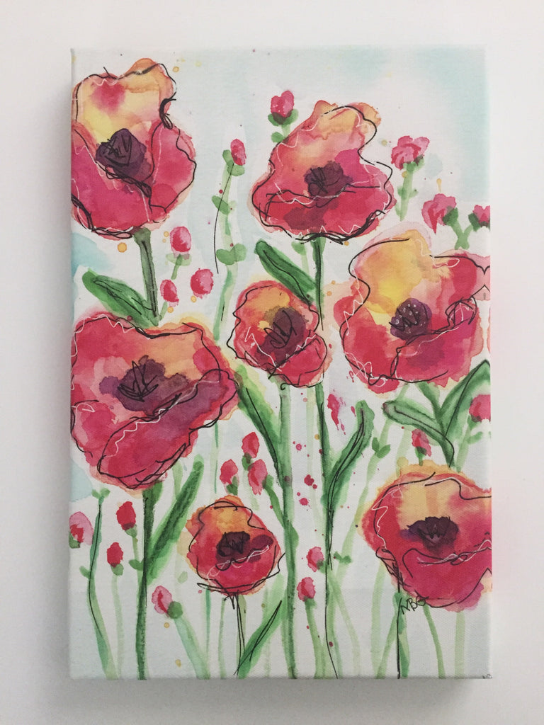 Print-Watercolor Poppies