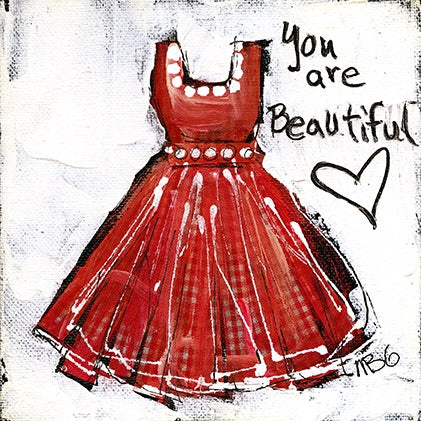 Red Checker Dress - You are Beautiful 6x6