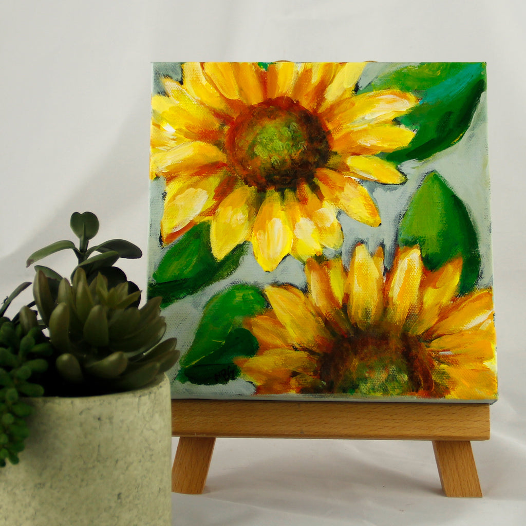 Sunflower Duo 8x8 #1