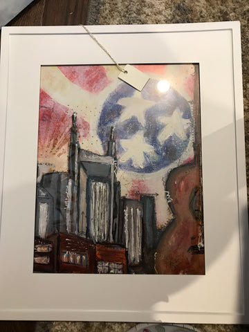 Framed Print - Nashville Painting 11x17
