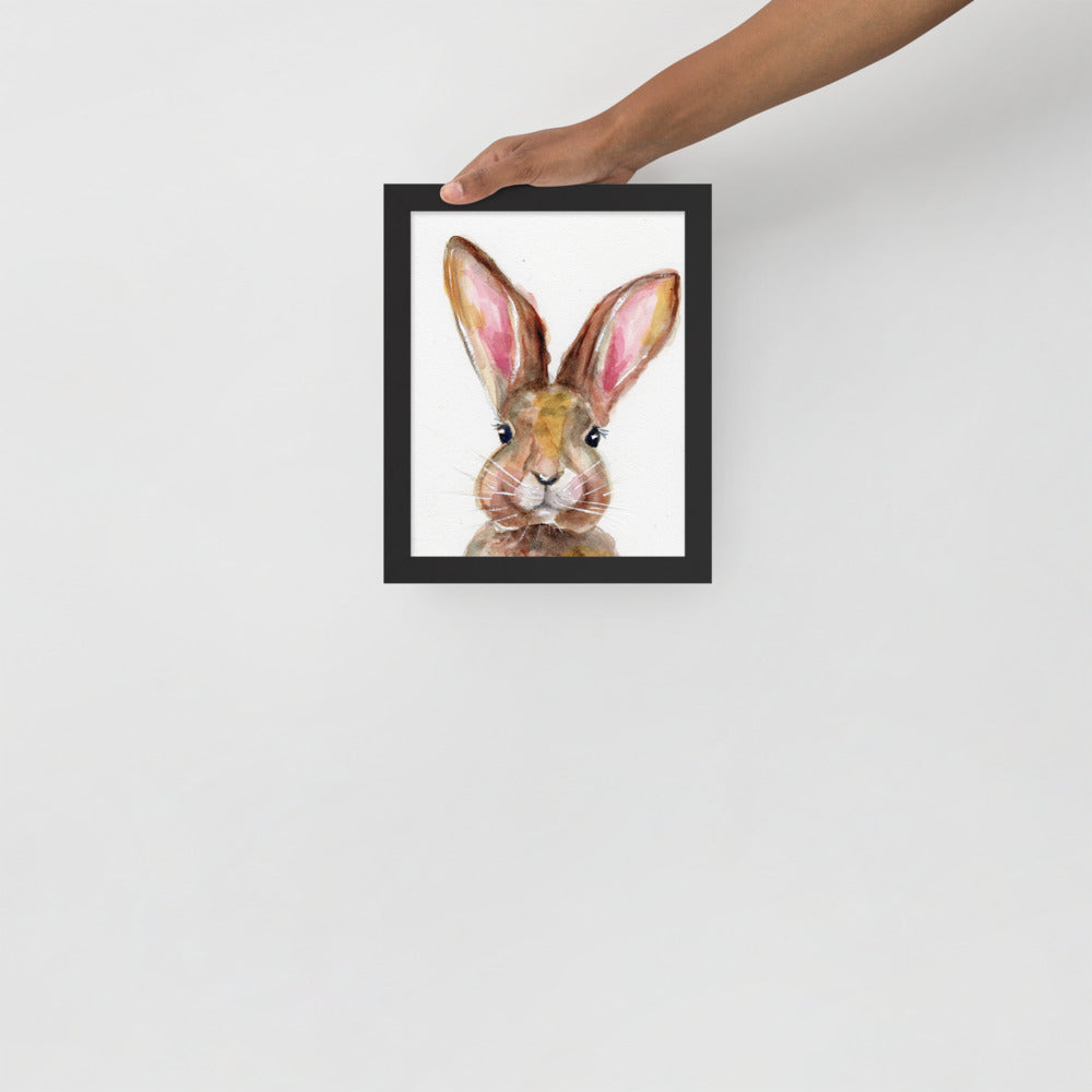 Bunny Watercolor Framed Poster