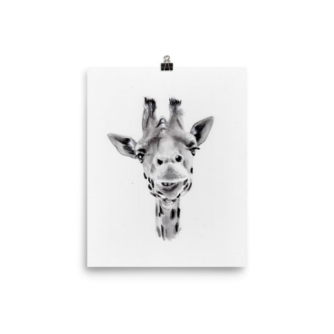 Black and White Giraffe Print