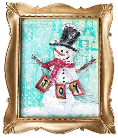 Mixed Media Snowman Kit