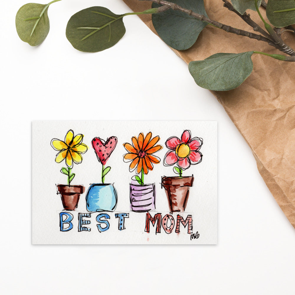 Best Mom Postcard