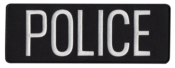 Hero's Pride POLICE BACK PATCH (EMBROIDERED) - Tactical Wear