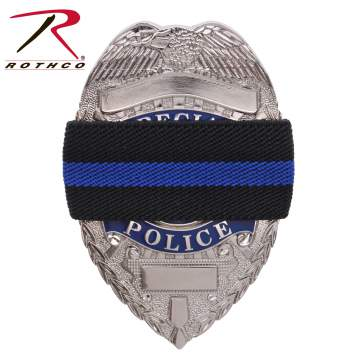 Rothco Thin Blue Line Mourning Band - Tactical Wear