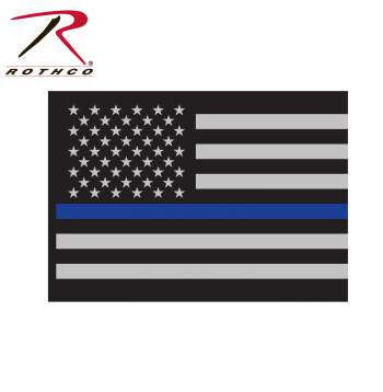 Rothco Thin Blue Line Flag Decal - Tactical Wear
