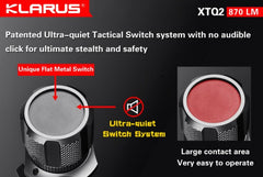 Klarus XTQ2 LED Flashlight - Tactical Wear