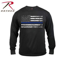 Rothco Long Sleeve Thin Blue Line T-Shirt