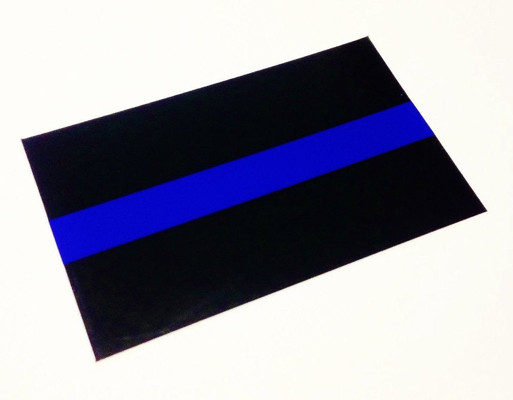 THIN BLUE LINE (EMBLEM) REFLECTIVE DECAL STICKER - Tactical Wear