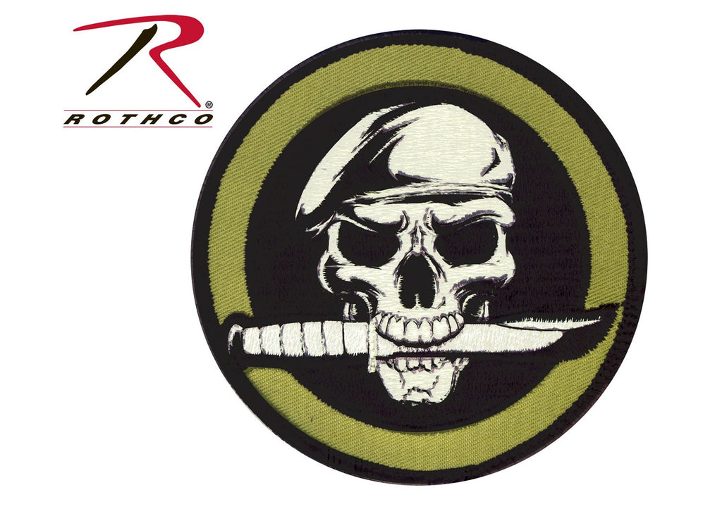 Military Skull & Knife Patch