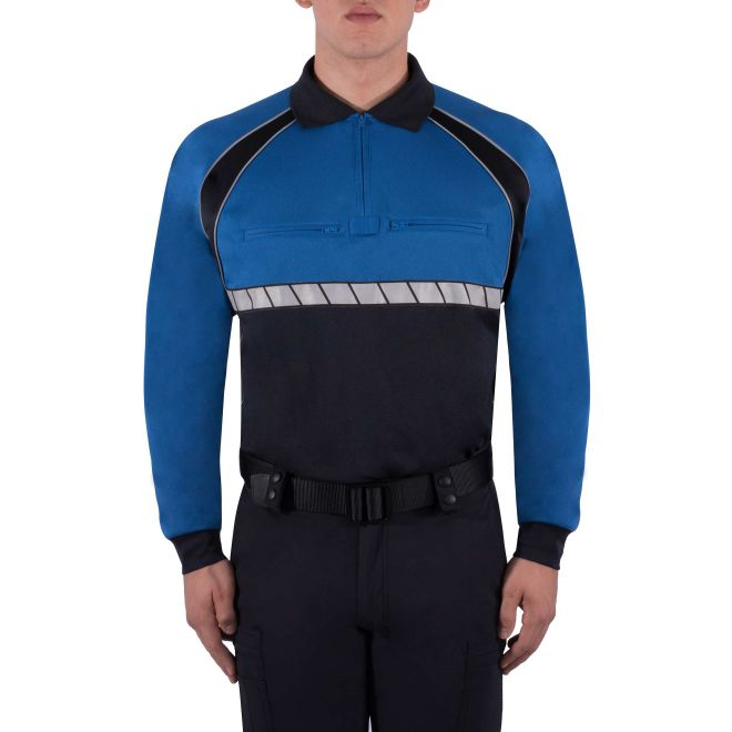 BLAUER LONG SLEEVE COLORBLOCK PERFORMANCE POLO SHIRT - Tactical Wear