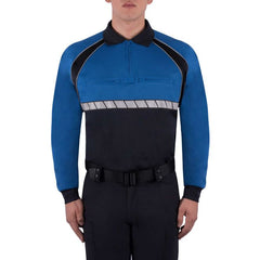 BLAUER LONG SLEEVE COLORBLOCK PERFORMANCE POLO SHIRT
