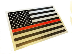 THIN BLUE/RED LINE REFLECTIVE AMERICAN FLAG DECAL STICKER - Tactical Wear