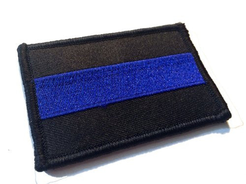 POLICE LAW ENFORCEMENT SOLID THIN BLUE LINE UNITED STATES VELCRO PATCH - Tactical Wear