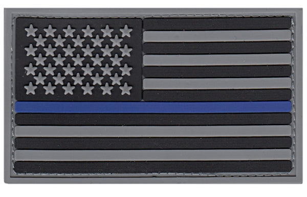 U.S. FLAG PATCH, BLUE STRIPE, PVC, HOOK - Tactical Wear