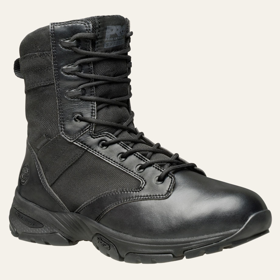 "Men's Timberland PRO Valor Tactical 8"" Side-Zip Soft Toe Work Boots - Tactical Wear"