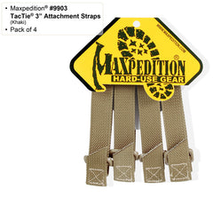 "Maxpedition 3"" TacTie™ (Pack of 4) - Tactical Wear"