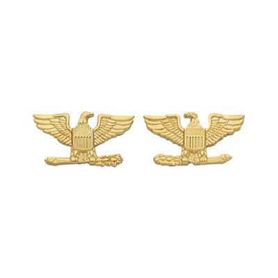 S&W Small Colonel Eagles (pair): left and right facing eagles-Gold Electroplate - Tactical Wear