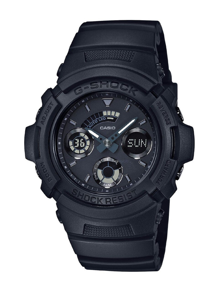 Casio G-shock Matte Black Ana Digi World Time Watch - Tactical Wear