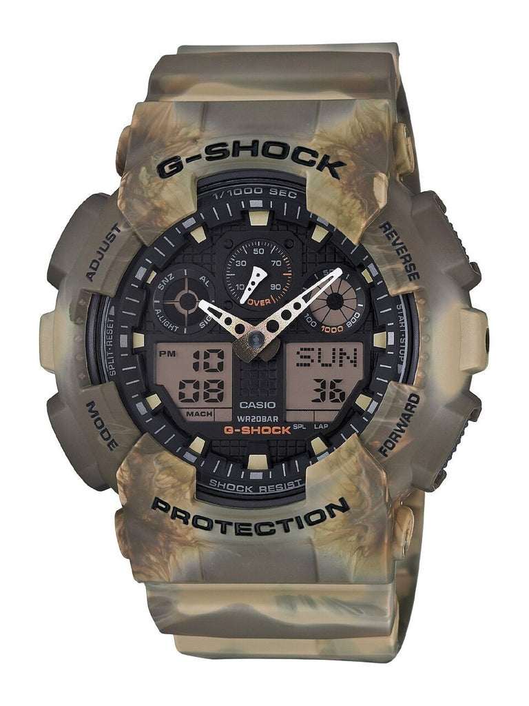 Casio G-Shock Black Dial Resin Quartz Men's Watch - Tactical Wear