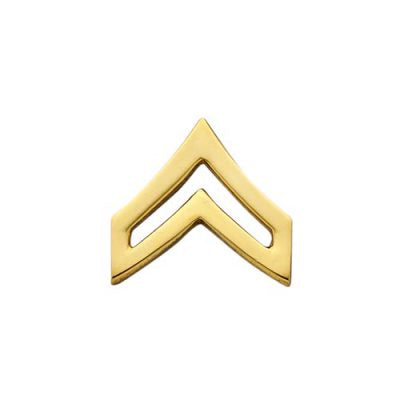S&W CPL Double Chevron Collar Insignia-NICKEL electroplate - Tactical Wear