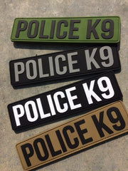 "PVC PATCH ""POLICE K9""/ ""POLICE K9 UNIT"""