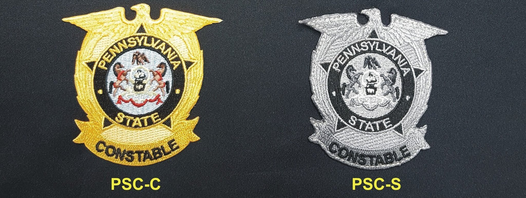 PA State Constable Badge Patches - Tactical Wear