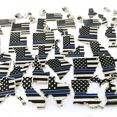 "3/4"" PA STATE PINS - THIN BLUE LINE USA"