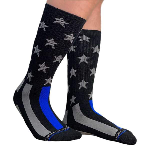 THIN BLUE LINE FLAG PERFORMANCE SOCKS