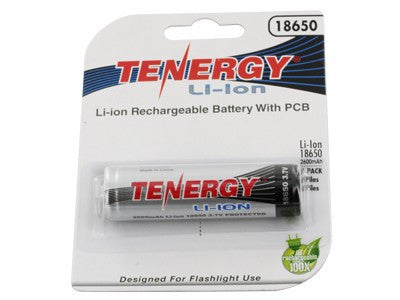 Tenergy Li-Ion 18650 with PCB Protection - Tactical Wear