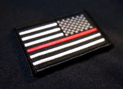 POLICE/FIRE THIN LINE US FLAG VELCRO PATCH