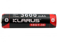 Klarus 18650 3600mAh 3.6V Lithium Ion (Li-ion) Button Top Battery for XT11GT - Tactical Wear
