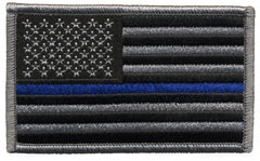 Hero's Pride U.S. FLAG PATCH, BLUE STRIPE, HOOK