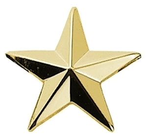 Collar pin- Pair 1/2 INCH  Gold Star w/Clutch Back - Tactical Wear