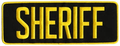 HERO'S PRIDE SHERIFF BACK PATCH, HOOK
