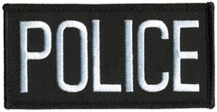 POLICE Chest Patch, Hook 4 x 2 - Tactical Wear