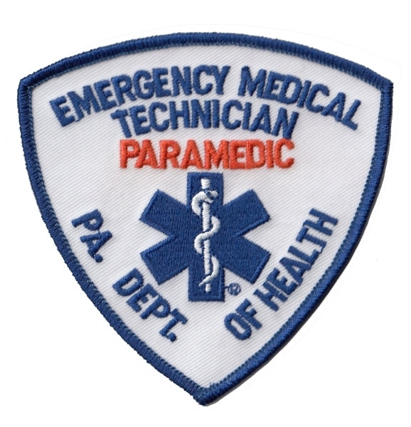 PA DEPT OF HEALTH EMT PARAMEDIC SHOULDER PATCH - Tactical Wear