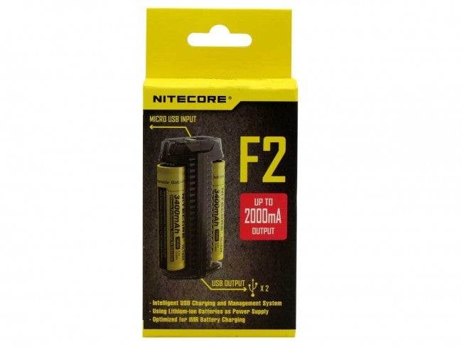 Nitecore F2 Flexible Power Bank and 2-Bay Charger for Li-Ion, IMR Batteries - Tactical Wear