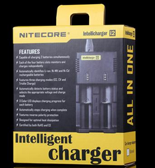 SYSMAX Intellicharge i2 Li-Ion Ni-Cd Ni-MH 2-Channel Smart Battery Charger - Tactical Wear