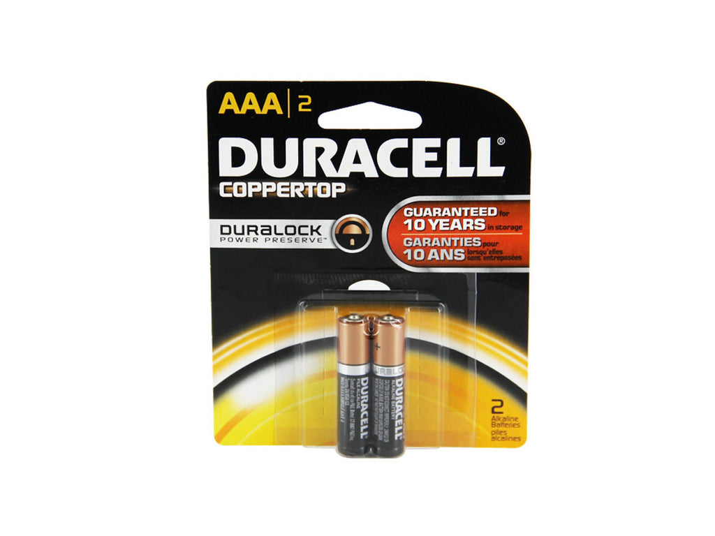 Duracell AAA Alkaline Battery (2) pack - Tactical Wear