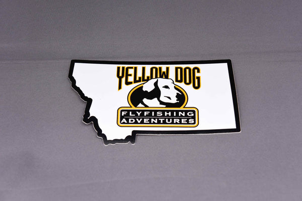 "Yellow Dog ""State of Montana"" Sticker"