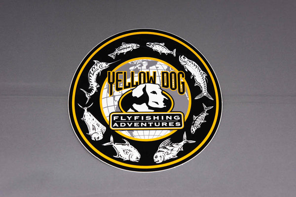 "Yellow Dog Large ""Species of the World"" Sticker"