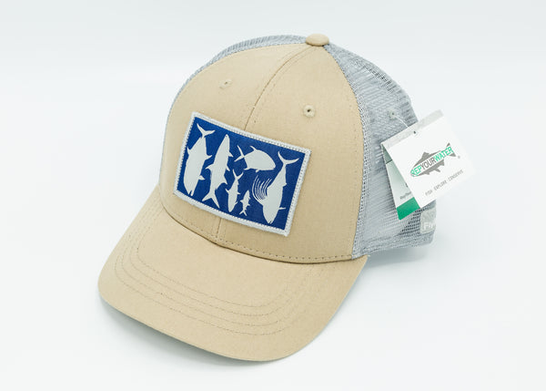 "Limited Edition Yellow Dog/RepYourWater ""Bucket List Species"" Hats"