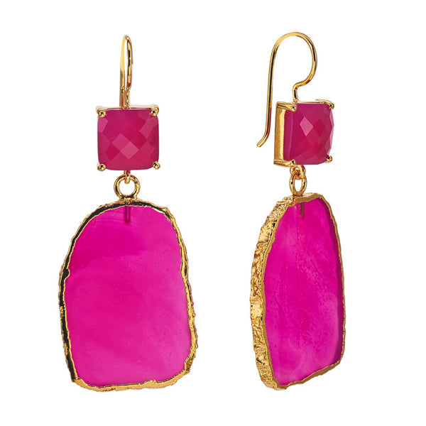 Bellagio Pink Chalcedony Earrings