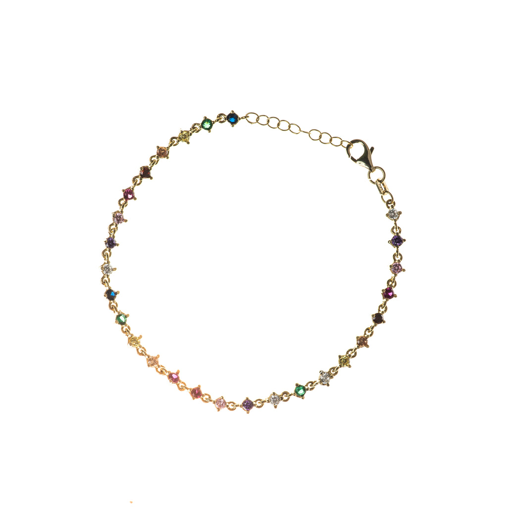 Multi-Color Zircon Bracelet